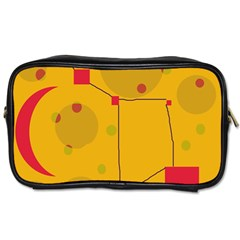 Yellow abstract sky Toiletries Bags 2-Side