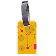 Yellow abstract sky Luggage Tags (One Side)