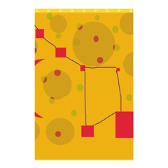 Yellow abstract sky Shower Curtain 48  x 72  (Small)