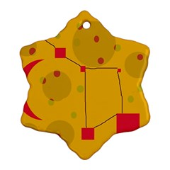 Yellow Abstract Sky Ornament (snowflake)