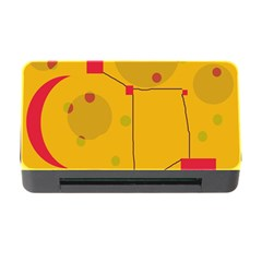 Yellow abstract sky Memory Card Reader with CF