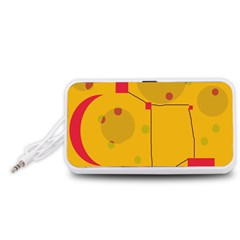 Yellow abstract sky Portable Speaker (White)