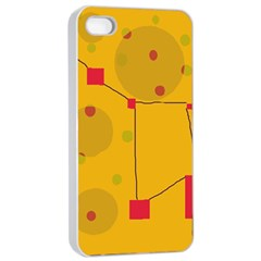 Yellow abstract sky Apple iPhone 4/4s Seamless Case (White)