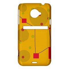 Yellow abstract sky HTC Evo 4G LTE Hardshell Case