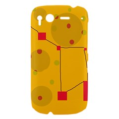 Yellow abstract sky HTC Desire S Hardshell Case
