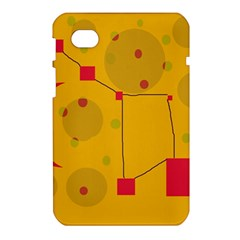 Yellow abstract sky Samsung Galaxy Tab 7  P1000 Hardshell Case