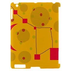 Yellow abstract sky Apple iPad 2 Hardshell Case (Compatible with Smart Cover)