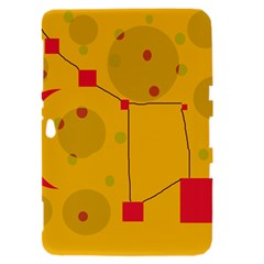 Yellow abstract sky Samsung Galaxy Tab 8.9  P7300 Hardshell Case