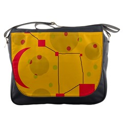 Yellow abstract sky Messenger Bags