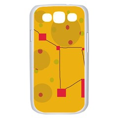 Yellow abstract sky Samsung Galaxy S III Case (White)