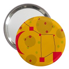Yellow abstract sky 3  Handbag Mirrors