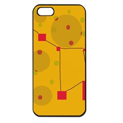 Yellow abstract sky Apple iPhone 5 Seamless Case (Black)