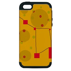 Yellow abstract sky Apple iPhone 5 Hardshell Case (PC+Silicone)