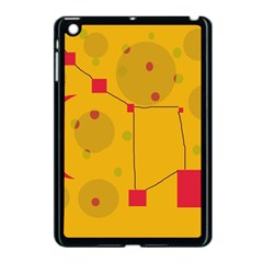 Yellow abstract sky Apple iPad Mini Case (Black)