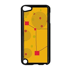 Yellow abstract sky Apple iPod Touch 5 Case (Black)