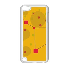Yellow abstract sky Apple iPod Touch 5 Case (White)
