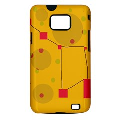 Yellow abstract sky Samsung Galaxy S II i9100 Hardshell Case (PC+Silicone)