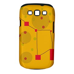 Yellow abstract sky Samsung Galaxy S III Classic Hardshell Case (PC+Silicone)