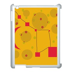 Yellow abstract sky Apple iPad 3/4 Case (White)