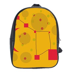 Yellow abstract sky School Bags (XL)