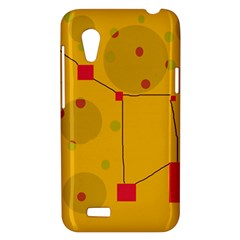 Yellow abstract sky HTC Desire VT (T328T) Hardshell Case