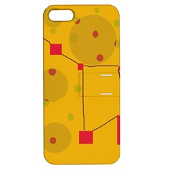 Yellow abstract sky Apple iPhone 5 Hardshell Case with Stand