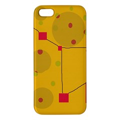Yellow abstract sky Apple iPhone 5 Premium Hardshell Case