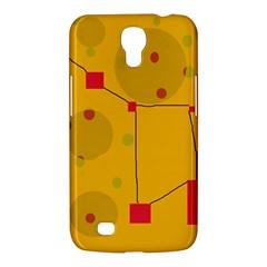 Yellow abstract sky Samsung Galaxy Mega 6.3  I9200 Hardshell Case