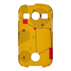 Yellow abstract sky Samsung Galaxy S7710 Xcover 2 Hardshell Case
