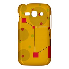 Yellow abstract sky Samsung Galaxy Ace 3 S7272 Hardshell Case