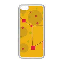 Yellow abstract sky Apple iPhone 5C Seamless Case (White)