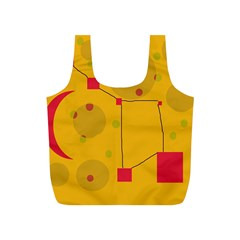 Yellow abstract sky Full Print Recycle Bags (S)