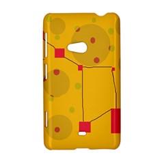 Yellow abstract sky Nokia Lumia 625