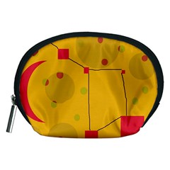 Yellow abstract sky Accessory Pouches (Medium)