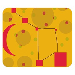 Yellow abstract sky Double Sided Flano Blanket (Small)