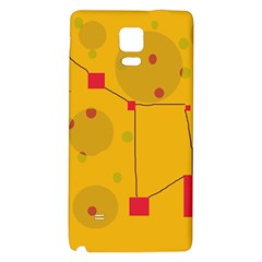 Yellow abstract sky Galaxy Note 4 Back Case