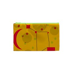 Yellow abstract sky Cosmetic Bag (XS)
