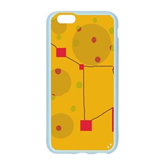 Yellow abstract sky Apple Seamless iPhone 6/6S Case (Color)