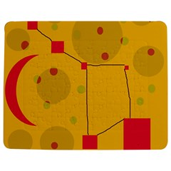 Yellow abstract sky Jigsaw Puzzle Photo Stand (Rectangular)