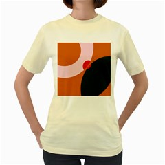 Decorative abstraction  Women s Yellow T-Shirt