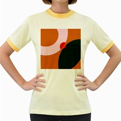 Decorative abstraction  Women s Fitted Ringer T-Shirts