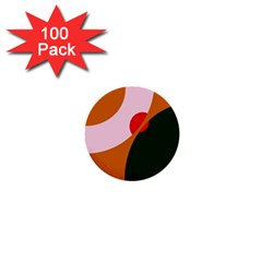 Decorative abstraction  1  Mini Buttons (100 pack)