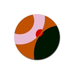 Decorative abstraction  Rubber Round Coaster (4 pack)