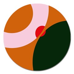 Decorative abstraction  Magnet 5  (Round)