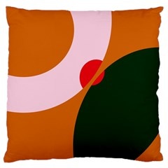 Decorative abstraction  Large Flano Cushion Case (One Side)