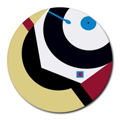 Digital abstraction Round Mousepads
