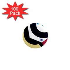 Digital abstraction 1  Mini Magnets (100 pack)