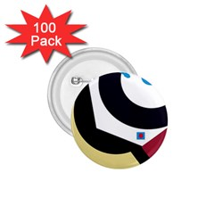 Digital abstraction 1.75  Buttons (100 pack)