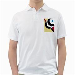 Digital abstraction Golf Shirts