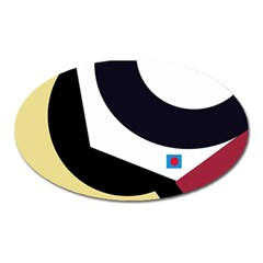 Digital abstraction Oval Magnet